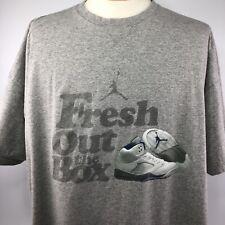 Vtg Nike Jordan Fresh Out The Box Shirt Sz XXL Gray Short Sleeve Tee