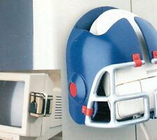 American Football Helmet Shaped Computer Mouse House Holder New Blue Silver