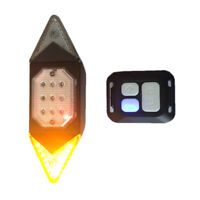 Mountain Bike LED Smart Rear Light Bicycle Turn Signal Remote Control Taillight
