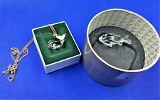 (2) Swarovski Crystal Figurines-A Whale On Chain (Crystal Memories) & A Goldfish