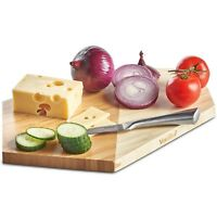 VonShef Chopping Board Large Bamboo Cutting Serving Platter Tray - Geometric