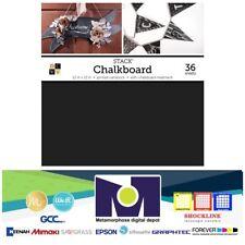 """DCWV®️ CHALKBOARD PAD BLACK 12""""X12"""" 36/PKG"""
