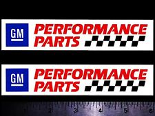 Gm Performance Parts Set of 2 Original Vintage Racing Decal/Stickers Chevy Olds