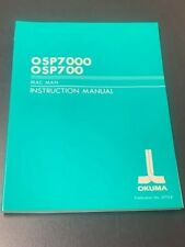New Okuma Mac Man Instruction Manual, 3775-E, 3775-E-R2, Osp7000 / Osp700