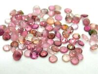 40 Pieces Natural Pink Tourmaline Wholesale Lot 4x4 mm Calibrated Faceted Round