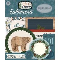 CARTA BELLA- EPHEMERA CARDSTOCK DIE-CUTS- LET IT SNOW ICONS