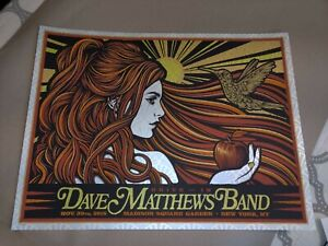 Dave Matthews Band Poster 2020 New York 2018 Todd Slater official new SE