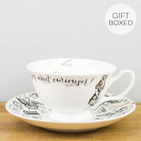 New Creative Tops V&A Alice in Wonderland Fine China Gift Box Teacup Saucer Set