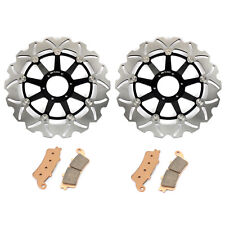 Front Brake Discs Rotors and Pads For Honda GL 1800 A Goldwing ABS 2001-2017