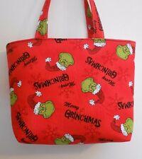 Handmade Christmas Merry Grinchmas Seuss Grinch Tote Purse Bag