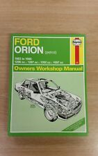 FORD ORION 1983-1990 HAYNES WORKSHOP MANUAL 1009 IN FAIR USED CONDITION FREE P&P