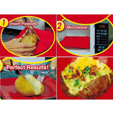 Potato Express Microwave Baked Potato Cooking Cooker Washable Bag Kitchen ToolUS