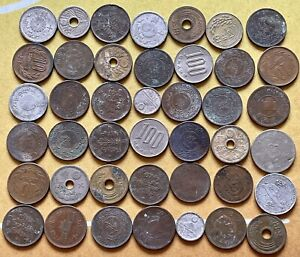 Huge Asia World Foreign Coin Lot Over 3 lbs Of Coins Multiple Asian Countries