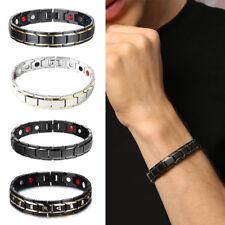 Fashion Titanium Steel Magnetic Therapy Energy Bracelet Men Health Care Women