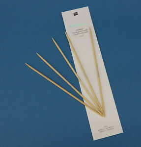 Rico Design RICORUMI 5 Stricknadeln, Nadelspiel, Bambus, Größe 3mm, Länge 15cm