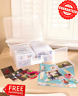 Photo Storage Containers 1600 Pictures Clear Organizer Acid-Free Cases Keeper