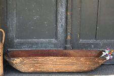 Antique Wooden Dough Bowl Primitive Rustic Trencher Carved Bowl Farmhouse Decor