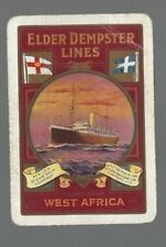 Swap Playing Cards 1  VINT WIDE SHIPPING  STEAM SHIP ELDER  DEMPSTER  LINES S10