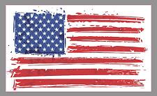 """Brushed American Flag 6"""" Premium Vinyl Bumper Sticker Decal Patriotic USA"""