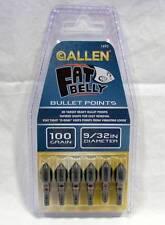 """Allen Archery #1490 Fat Belly 100 Grain 9/32"""" Bullet Field Target Points"""