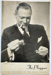 1940 Playgoer Lee Tracy Every Man for Himself Geary Theatre San Francisco