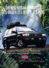 1996 Nissan Pathfinder Original Advertisement Print Art Car Ad J806