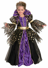 Morris Costumes Girls Witch Childrens Costume Purple Black 8-10. FM63866