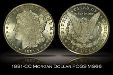 1881-CC Morgan Silver Dollar PCGS MS66 Bright White Lustrous Flashy Carson City