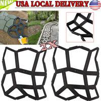 DIY 2X Garden Driveway Paving Mold Patio Concrete Stepping Stone Walk Maker US