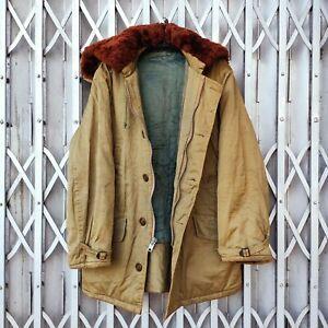 Vintage 60'S B-9 Flight Jacket Cold Weather Parka Jacket