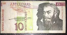 SLOVENIA SLOVENIJE 10 TOLARJEV 15 JANUAR 1992 MOLTO RARA DA COLLEZIONE