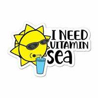 I Need Vitamin Sea Funny Beach Summer Holiday Sun Shades Car Sticker Decal