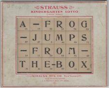 1904 Strauss Kindergarten Lotto Beveled Game Card - Educational Children Toy