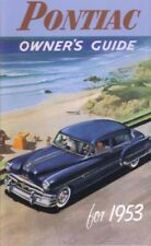 1953 Pontiac Owners Manual User Guide Reference Operator Book Fuses Fluids OEM