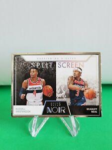 2020-21 Noir Split Screen SP /25 #285 Bradley Beal Russell Westbrook R6220J