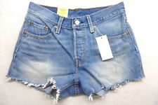 Levi's Womens 501 Ct 0007 Dotted Blue Button Fly Cuffed Jean Shorts Size 27