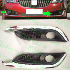 2pcs For Buick Regal 2014-2016 Car Front Bumper Fog Light Lamp Cover NO Bulbs