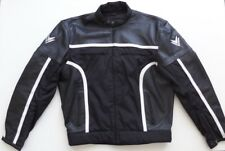 Frank Thomas Leather Textile Motorcycle Black and White Jacket
