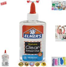 Elmer's SLIME Clear Liquid School Glue, Clear, Washable, 5oz Plastic Bottle Bond
