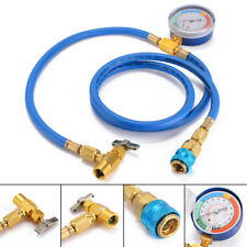 R134A Car Air Conditioning Refrigerant Pressure Gauge Recharge Charging Gas Hose