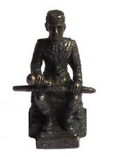 Figurine miniature Roi Naresuan le Grand décoration collection bronze noir