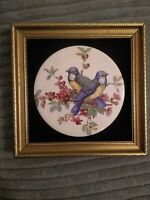 Staffordshire Harleigh China Co Framed Ceramic Plaque Hand Made in England 3/575