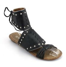 Ladies Womens Gladiator Sandals Beach Summer Shoes Size UK 4 EU 37 LL005  Black