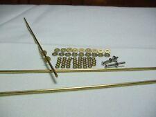 10 Straight Razor Set Brass Washers, Brass Rod Pins and Pivot Washers