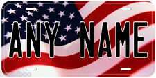 Personalized USA Flag Aluminum Novelty Car License Plate US09