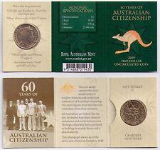 2009 RAM $1 UNC C Mintmark - 60 Years of Australian Citizenship
