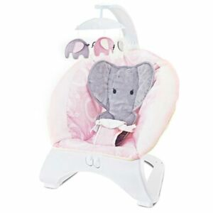 Dondolo Sdraietta per Neonati Vibrante Musicale Fitch Baby Elefantino Rosa
