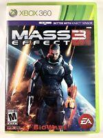 FREE SHIPPING! Mass Effect 3 (Microsoft Xbox 360 2 Disc 2012) Clean Discs CIB VG