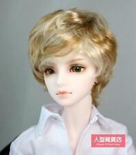 BJD Doll Hair Wig 8-9 inch golden white 1/3 SD DZ DOD LUTS Mohair  Perma-short