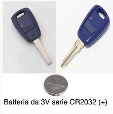 1 batteria ricambio per chiave nera o blu Fiat Punto 500 Doblo Stilo Marea ..